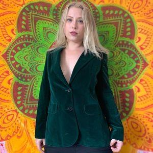 //VINTAGE// Green Velvet Blazer